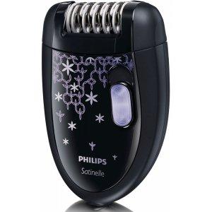 Епилатор Philips HP6422/01, 2 настройки за скорост, Черен, Четка за почистване