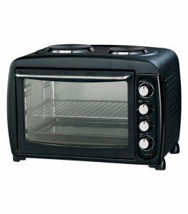 Мини готварска печка Elekom EK 550, Обем 55 л, Терморегулатор, Черен