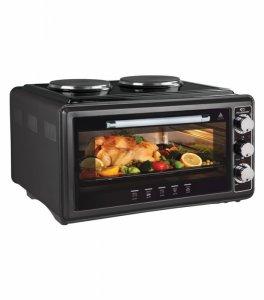 Мини готварска печка Elekom EK 3431, Обем 48 л, Черен