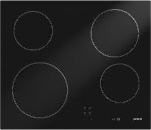 Стъклокерамичен плот Gorenje ECT610SC, 4 нагревателни зони, черен