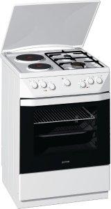 Готварска печка Gorenje K65206BW, Обем 65 л, Клас А+, Бял