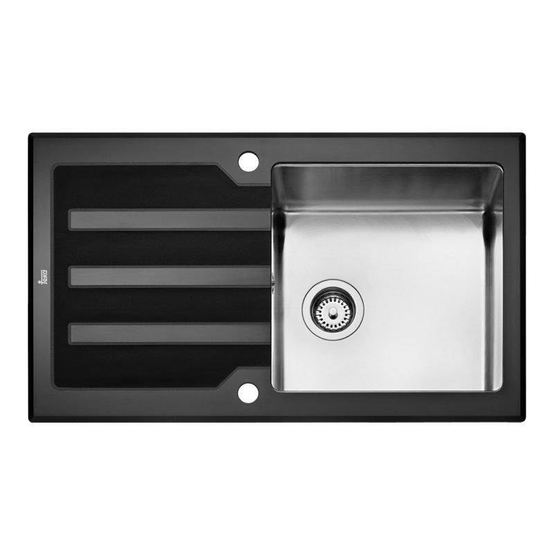 Мивка за вграждане Teka LUX 86 1C 1E Black, Дълбочина 20 см, Голямо корито 40х40 см От Technoarena.bg. Безплатна доставка за цялата страна за поръчки над 50 лв.