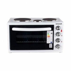 Мини готварска печка Snaige 3085W, Обем 25 л, Клас А, Бял
