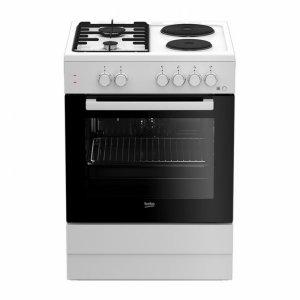 Готварска печка Beko FSE 64010 DW/ГАЗ, Обем 66 л, Клас А, Бял