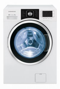 Пералня със сушилня Daewoo DWC-LD1432, Пране 10 кг, Сушене 7 кг, 1400 об/мин, Клас B, Бяла