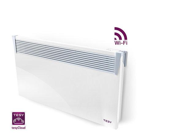 Панелен конвектор Tesy CN 03 250 EIS CLOUD W, 304184, Управление през интернет, Мощност 2500 W, Бял