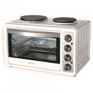 Мини готварска печка Rohnson R 2128, Обем 28 л, Бял
