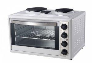 Мини готварска печка Rohnson R 2148, Обем 38 л, Бял