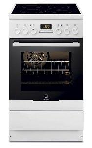Готварска печка Electrolux EKC54552OW, Обем 57 л, Клас А, Бял