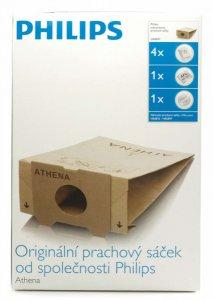 Philips Торба за прах за еднократна употреба 4 торбички, 1 AFS микро филтър, 1 предпазен филтър за мотора, Съвместим с HR6815...49