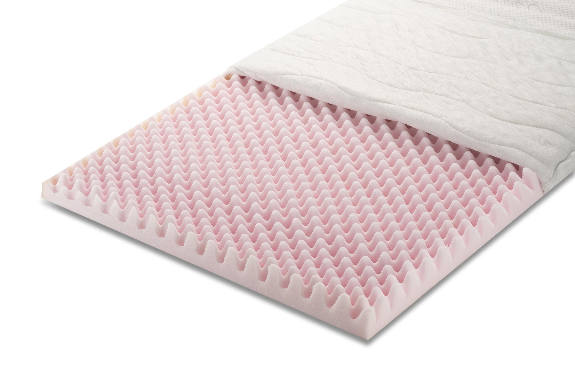 Топ матрак Antistress Silver - 7 см, профилирана полиуретанова пяна