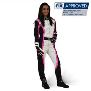 Състезателен гащеризон RRS Victory FIA в розово (два вида)