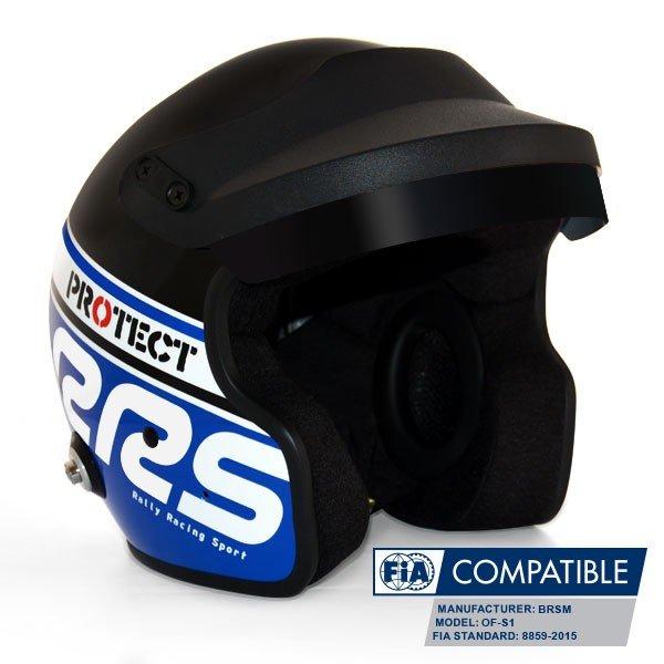 Отворена каска RRS FIA - три цвята