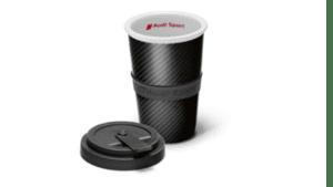 Audi спортна чаша Carbon Optics в сиво