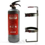 2kg ABC прахов пожарогасител - сив