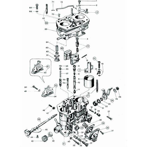 Резервни части за карбуратор WEBER DCOE
