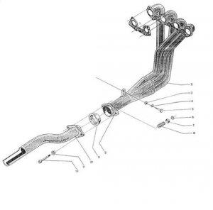 Стоманен изпускателен колектор за Citroen от RedSpec