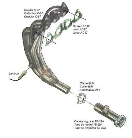 Стоманен изпускателен колектор за Peugeot от RedSpec