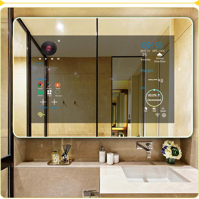 Умно огледало за баня / дневна с WiFi / LAN