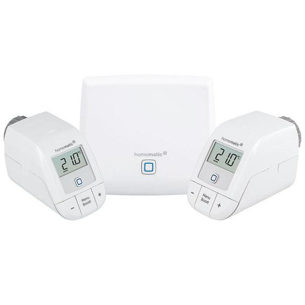 Homematic IP HmIP-SK10 Пакет класик 2 интелигентно парно за двустаен апартамент 1хТочка за достъп, 2хЕлектронна термоглава с безжично управление