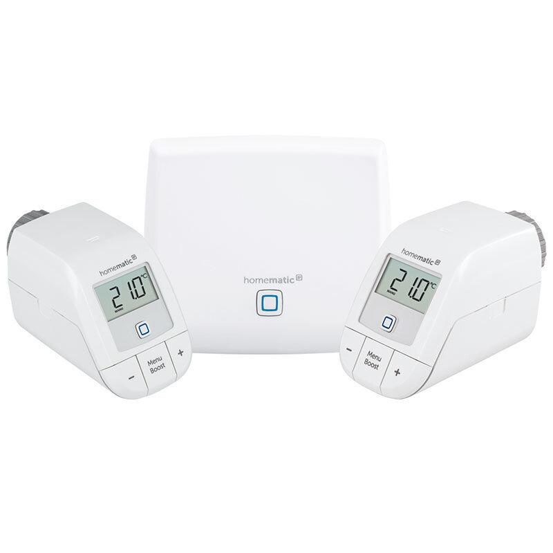 Homematic IP HmIP - Пакет класик 2 интелигентно парно за двустаен апартамент 1хТочка за достъп, 2хЕлектронна термоглава с безжично управление