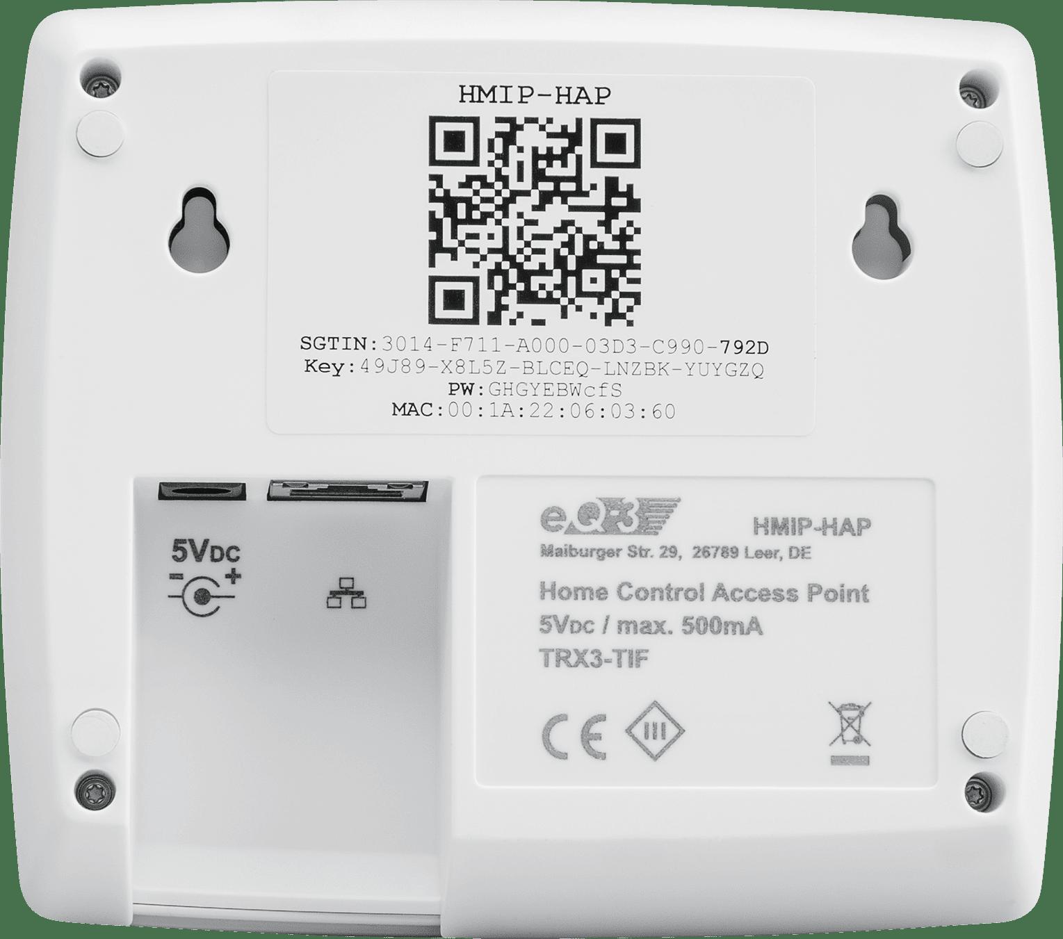 Homematic IP Стартов Комплект за управление на парно за Smart Home с Точка за достъп, Термостатна безжична глава за радиатор и Сензор за прозорец-врата