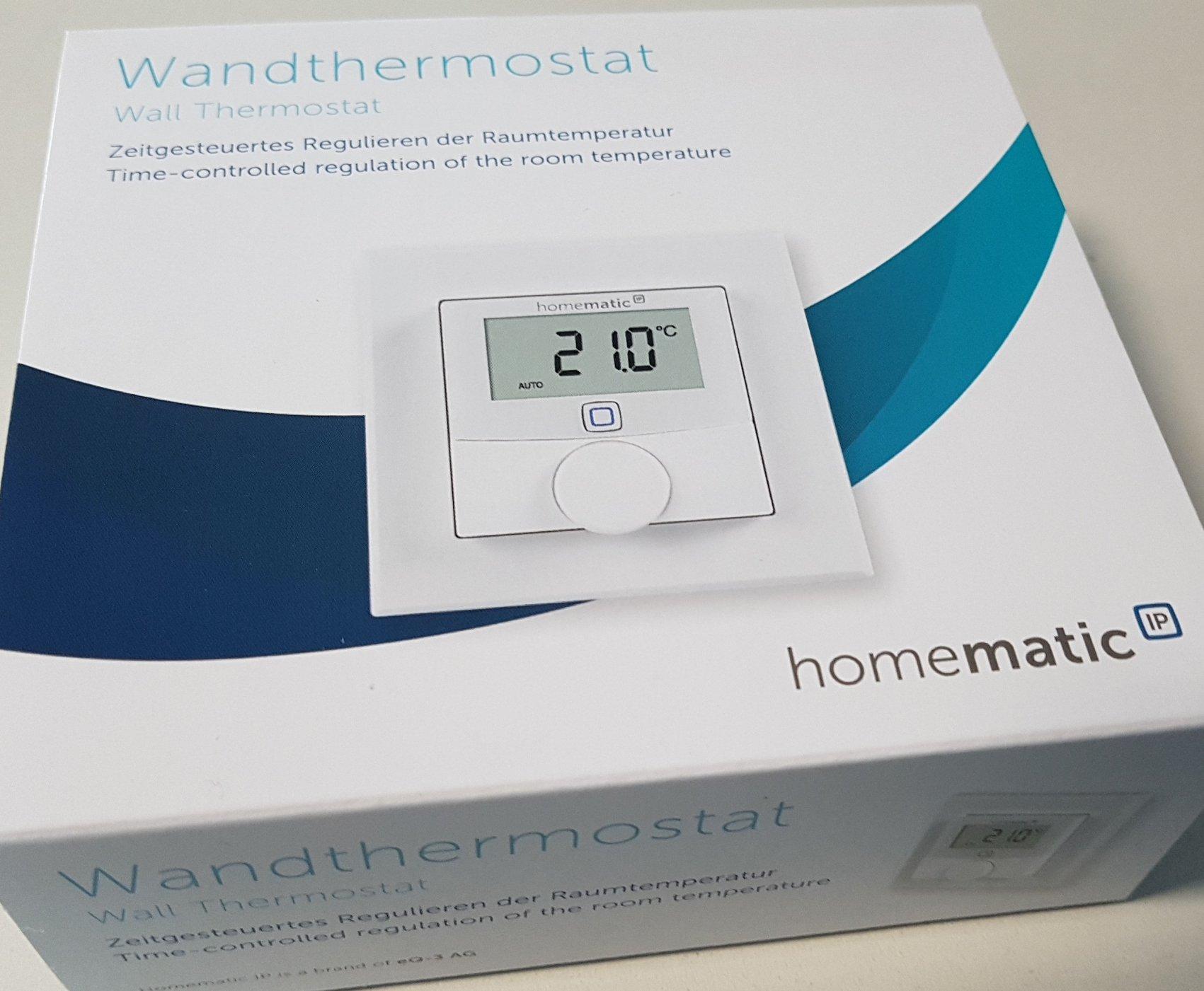 Homematic IP Стенен термостат със сензор за влажност за Smart Home