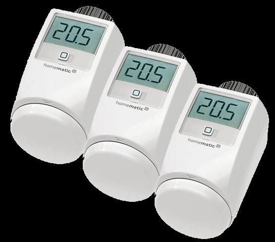 Homematic IP Термостатна безжична глава за радиатор/електронна термоглава/ за Smart Home комплект 3