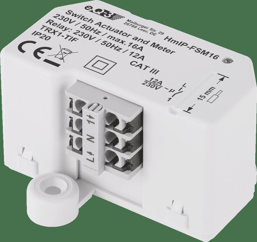 Homematic IP Смарт пакет за управление на електрическо лъчисто подово отопление за Smart Home, 1х Стенен термостат, 1 х Превключвател, 16А