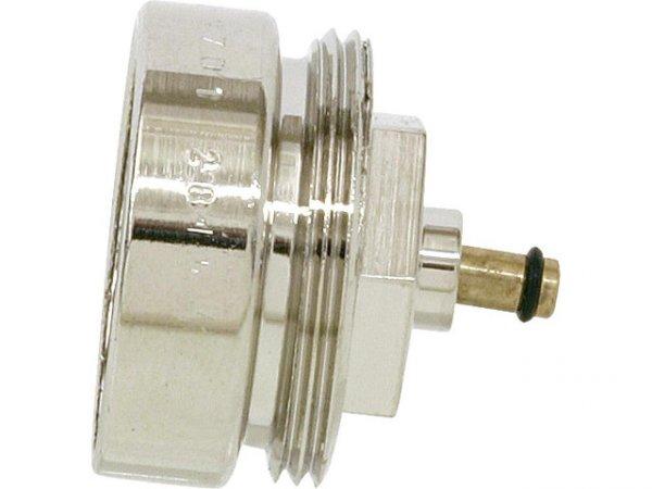 Адаптер за радиаторен вентил  /метален никелиран/  М28х1,5/М30х1,5
