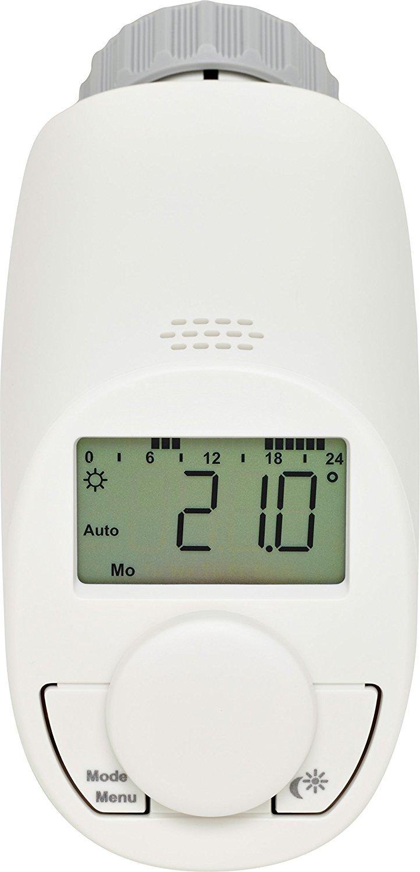 Енергоспестяваща електронна термоглава за радиатор тип N с функция за бързо загряване - комплект 3 броя