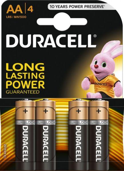 Duracell Батерии алкални LR6 / Mignon / AA x 4