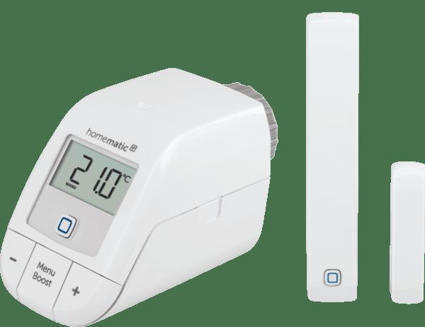 Homematic IP Комплект отопление-лесно свързване с безжична термостатична глава и сензор за прозорец