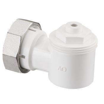 Адаптер за термостатичен вентил с резба M30x1,5, бял, универсален, ъглов