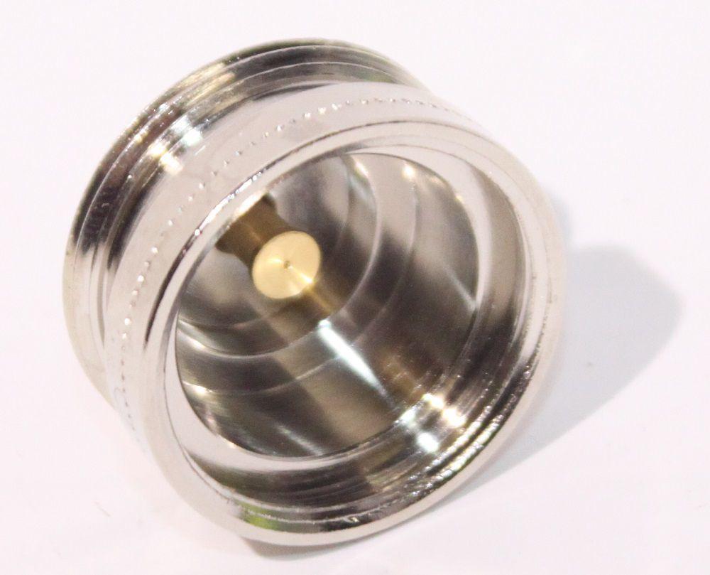 Адаптер за термостатичен вентил HERZ /метален никелиран/  М28х1,5/М30х1,5