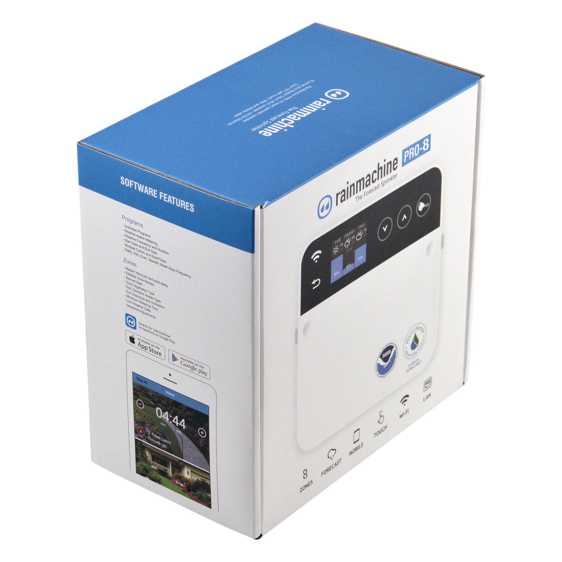 RainMachine Pro-8 Смарт контролер за поливни системи с WiFi & LAN - 8 зони