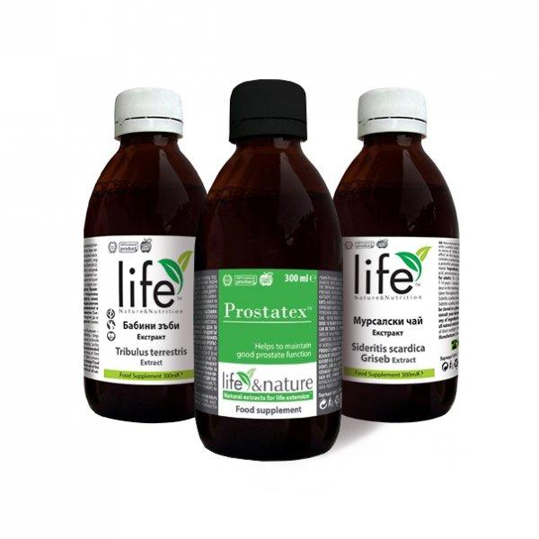 Комплект за здраве, добра функция на простатата и мъжка сила! Екстракт от Мурсалски чай, Простатекс и Екстракт от Бабини зъби