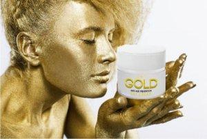 Дневен крем със златни частици