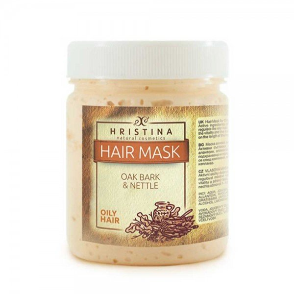 Маска за мазна коса с дъбови кори