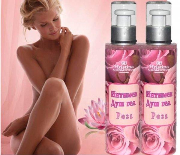 Интимен билков душ гел роза