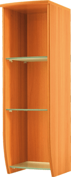 Кухненски шкаф горен модел L30 със стъклени рафтове