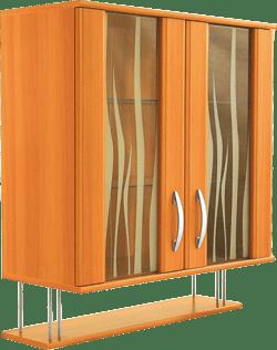 Кухненски шкаф горен модел L80 с рафт и витрина