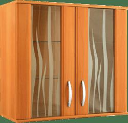 Кухненски шкаф горен модел L80 с витрина