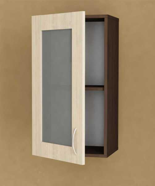 Кухненски шкаф Модест горен В-40/72В витрина с една врата