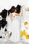 Мегз ЛИМИТИРАНА сребърна рокля - Полукорсет