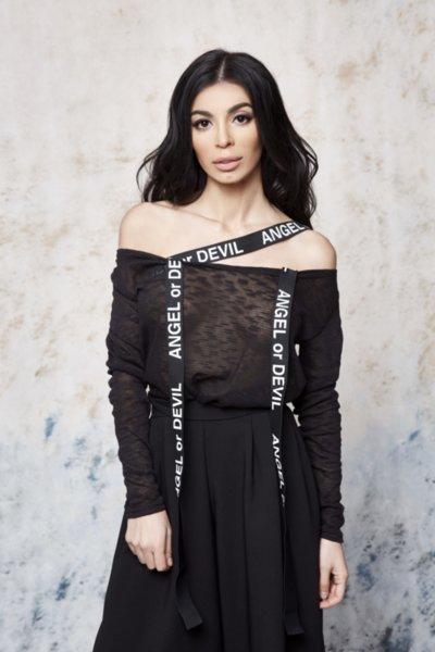 Мегз блуза с ленти