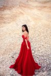 Мегз дълга рокля с френска дантела
