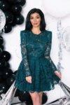 Мегз дантелена рокля с къс ръкав