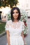 Мегз рокля дантела и 3D цветя