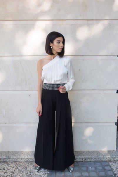 МЕГЗ елегантен панталон с метални детайли